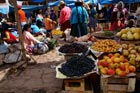 Local market in Pisar, Peru