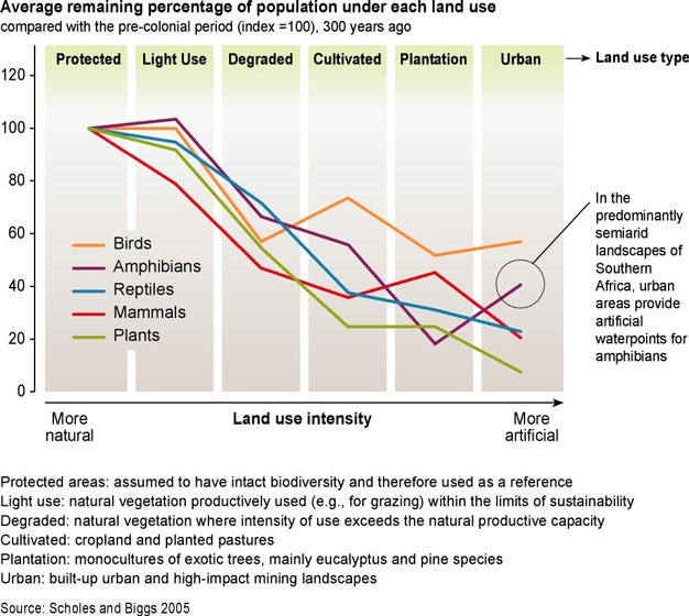 Effect of land use intensity