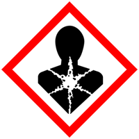 The international pictogram for chemicals that are sensitising,