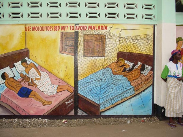 Campaign to promote the use of mosquito nets