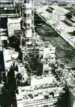 El reactor destruido