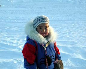 Little Inuit girl