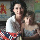 HIV positive mother and child, Ukraine